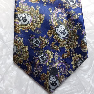 Mickey Mouse in Paisley Navy Blue Neck Tie